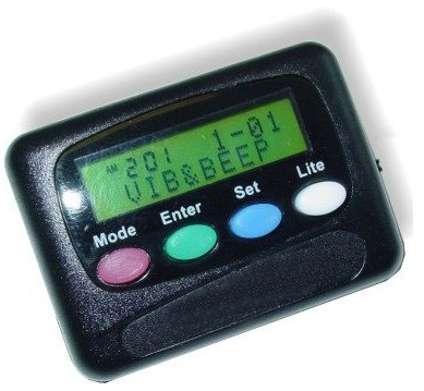 Invisible Clock - Vibrating 12 Alarm pager - TT12-0SQ