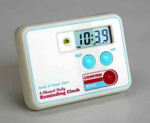Reminding Clock - TabTimer TT4-0SQ Medication Pill Reminder alarm