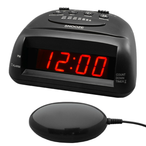 Global 360 Black Vibrating Alarm Clock - TTC-360BK