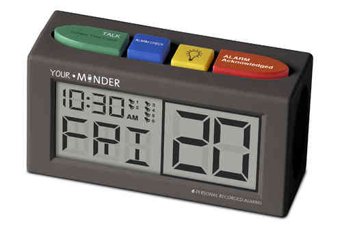 MedCenter Your Minder Personal Recordable Talking Alarm Clock TTC-MCREC