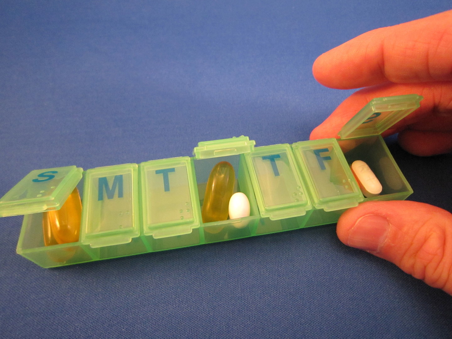 7 Day Green Braille Pill Storage Box For Blind Amp Vision