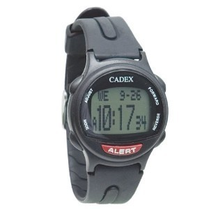 12 Alarm e-pill® CADEX® watch BLACK Medication Reminder and ALERT Watch (952433) - TTW-CAD-BLACK
