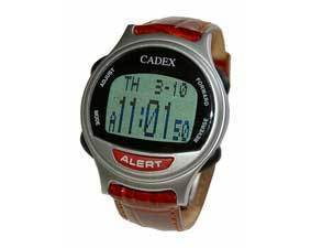 12 alarm e pill cadex watch leather medication reminder alert for Cadex watches