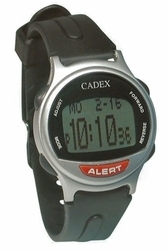 12 Alarm e-pill® CADEX® SILVER Medication Reminder and ALERT Watch (952431) - TTW-CAD-SILVER
