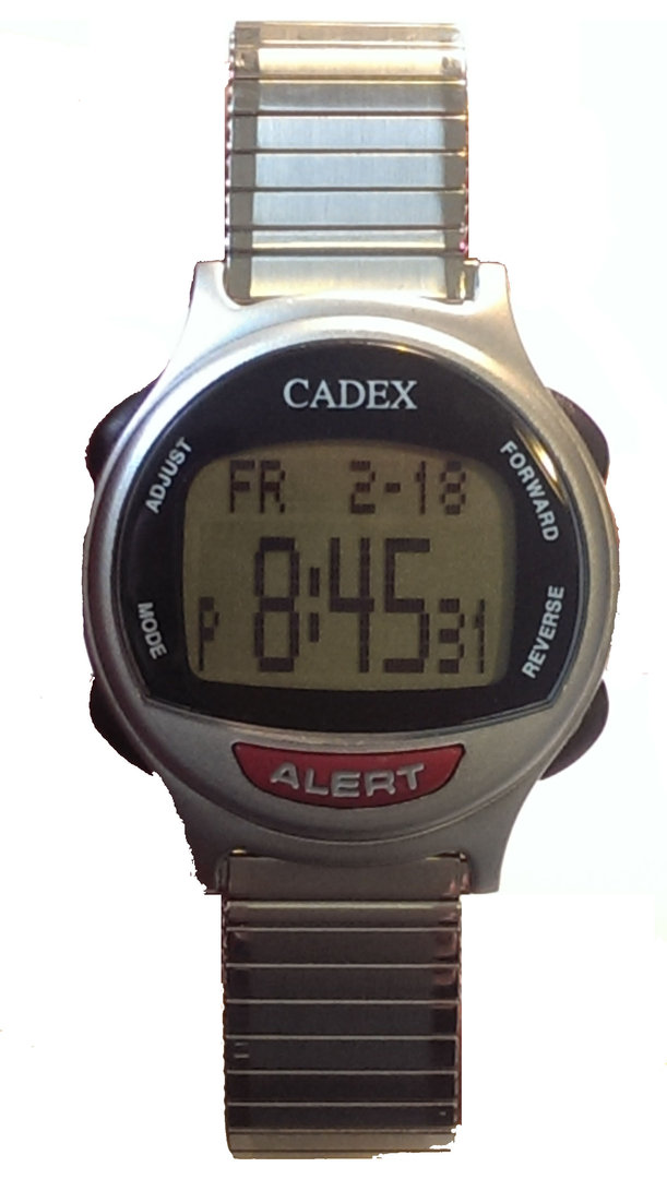 12 alarm e pill cadex flexible stretch band reminder and alert for Cadex watches