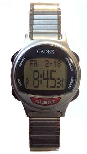 12 Alarm e-pill® CADEX® Flexible Stretch Band Reminder and ALERT Watch - TTW-CAD-FLEX