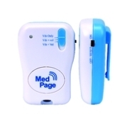 Medpage Beeping Tone Amp Vibrating Alert Pager Receiver