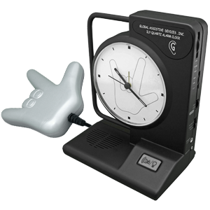 SALE - 'I Love You' Vibrating Clock with ILY bed pillow shaker TTC-ILYHND