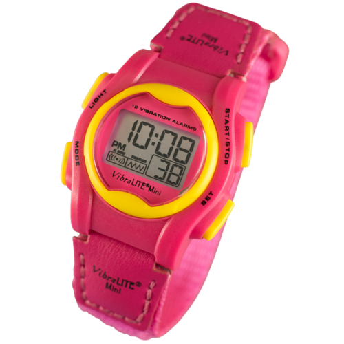 VibraLITE MINI -  Pink Neon Band - Vibrating Watch- TTW-VM-VPN