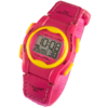 VibraLITE 12 MINI - Velcro Pink Neon Band - Vibrating Alarm Reminder Watch - TabTimer TTW-VM-VPN