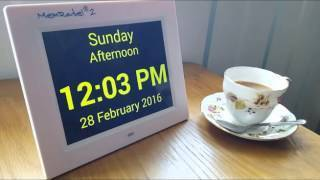 MemRabel 2 (v5) Audio Visual Orientation/Calendar Alarm Clock - TTC-MEMRABEL2