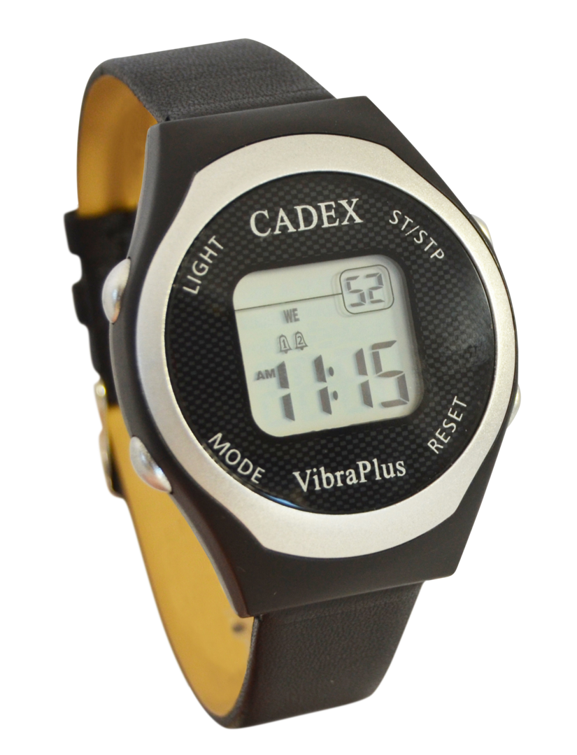 Epill cadex vibraplus vibrating 8 alarm reminder watch for Cadex watches