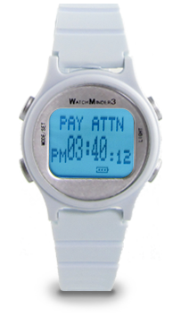 WatchMinder 3 - white - vibrating watch reminder system WM3-WH