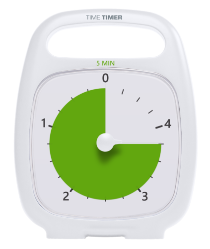 Time Timer PLUS® 5 Minute - TT-TTP05-WHT