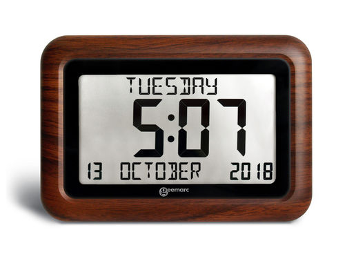 VISO10 Wood - Large Easy Read Alzheimer's Dementia Clock
