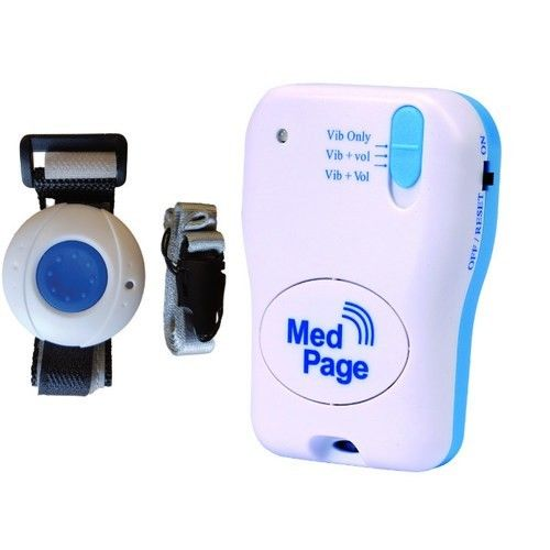 MedPage Splash Proof Call Pendant with Vibrating Pager - MPPL-ERTXSET