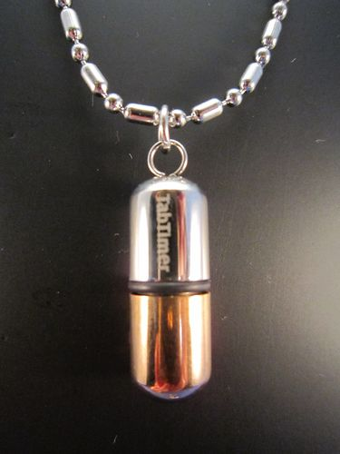 TabTimer Necklace Pill Box Bronze TT-NECK-BRZ