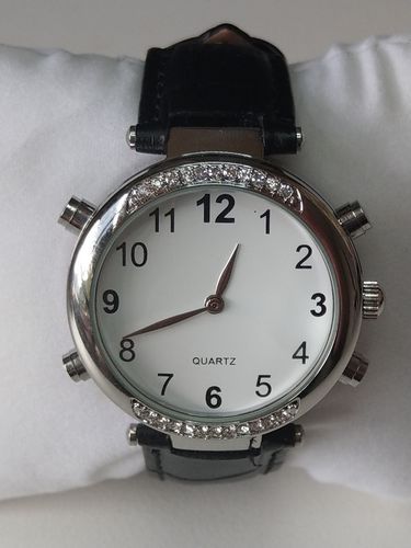 Low Vision Talking Watch for vision impairment rhinestone - TTW-LVTW-RBK