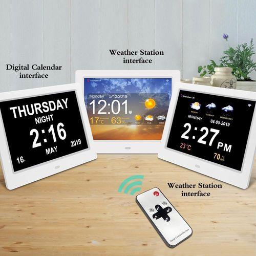 "8"" Digital Wi-fi Weather Station Orientation Dementia Clock - TTC-DC8001-W wifi"