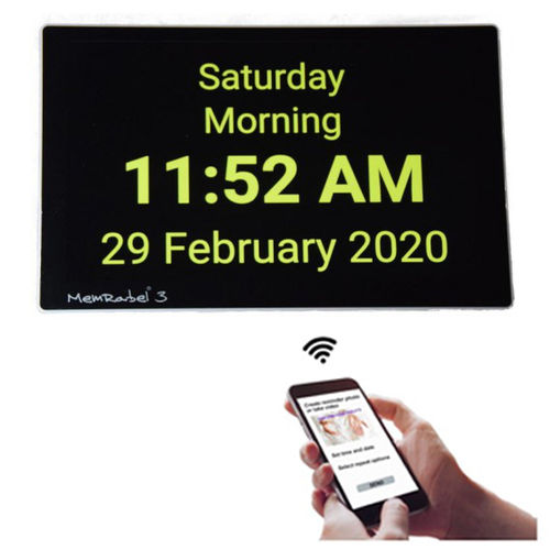 MemRabel 3-i Dementia Orientation Clock - Touch screen, Wi-fi, APP enabled TTC-MEMRABEL3-i
